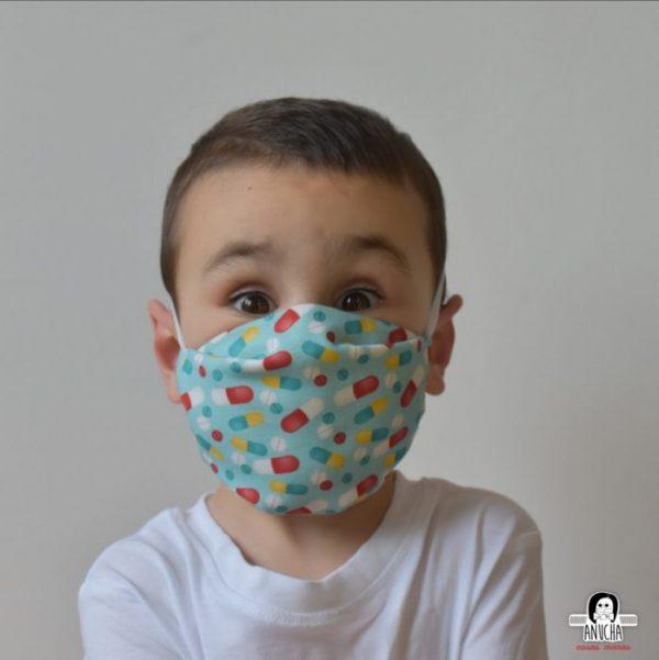 Mascarilla Infantil pastillas Anucha